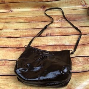 Coach Ashley Patent Leather Small Swingpack  Bag
